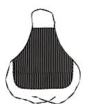 3 Pocket Chalk Stripe Bib Apron, 27 inch Rounded Corners