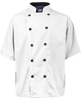 Men's Short Sleeve Active Chef Coat