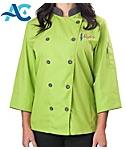 Womens ¾ Sleeve Active Chef Coat