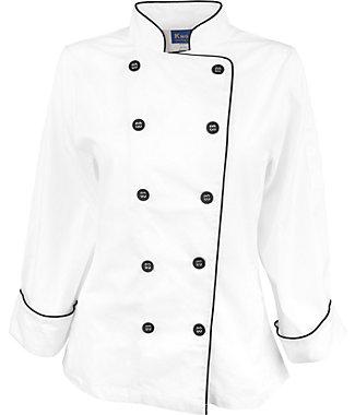 Womens Pima Cotton Chef Coat Kng Com