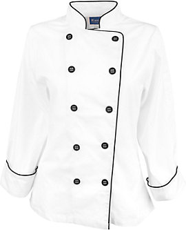 Womens Pima Cotton Chef Coat