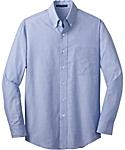 Mens Long Sleeve Cross Hatch Texture Shirt