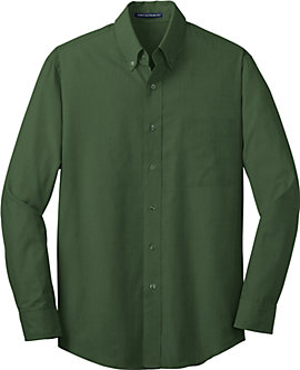 Mens Long Sleeve Cross Hatch Texture Shirt