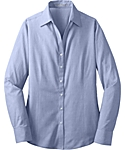 Womens Long Sleeve Cross Hatch Texture Shirt
