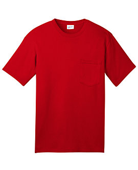 Mens USA Made Tee with Pocket, 5.5oz