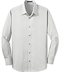 Mens Stretch Poplin Solid Dress Shirt
