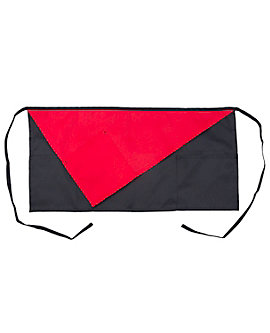 3 Pocket Waist Apron with Diagonal Contrast Pocket, 14 inch