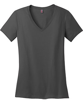 Womens Vee Neck Tee, 4.3oz