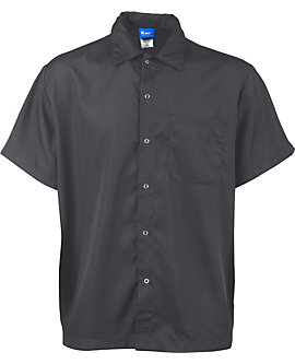 Lightweight Snap Front Cook Shirt, Slate