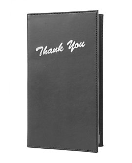 Imitation Leather Check Presenters with Silver Thank You