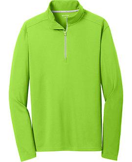 Mens Sport-Wick Textured Zip Pullover