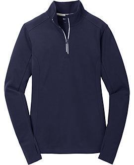 Womens Sport-Wick Textured Zip Pullover