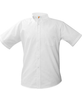 Mens Short-Sleeve Oxford Shirt