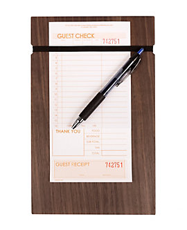 "Ash Walnut Clipboard with Elastic Band, 6½"" x 10¼"""