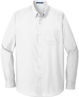 Mens Port Authority Tall Carefree Poplin Shirt, Long Sleeve