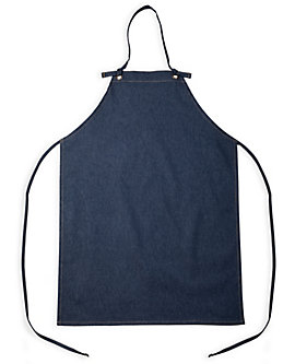 No Pocket Denim Bib Apron