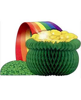 St Patrick's Day Pot-O-Gold Centerpiece