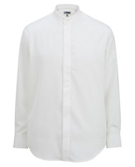 Men's Batiste Banded Collar Shirt