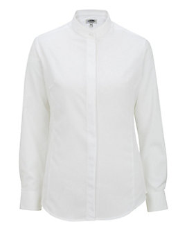 Women's Batiste Banded Collar Shirt