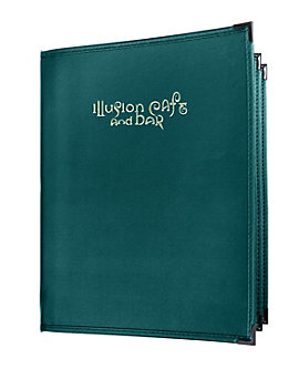 4 View Book Style Fine Cafe Menu