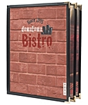 6 View Book Style Cafe Menu Cover