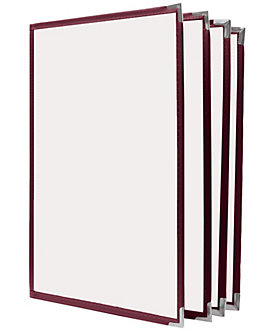 8 View Book Style Cafe Menu Cover