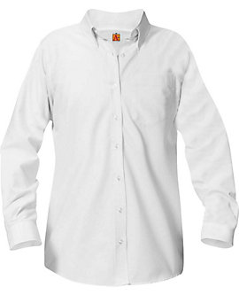 Womens Long Sleeve Oxford Blouse