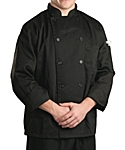 Black Classic Long Sleeve Chef Coat