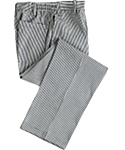 Checkered Zip Front Chef Pant