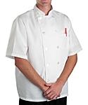 White Classic Short Sleeve Chef Coat