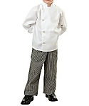 Child Classic White Long Sleeve Chef Coat