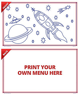 Coloring Sheets Spacerace, 8.5 x 14