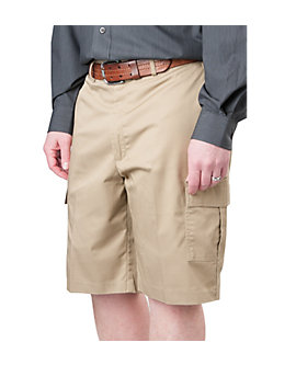 Mens Flat Front Cargo Shorts