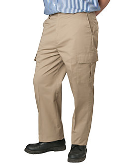 Mens Pants Flat Front Cargo