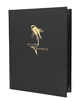 4 View Book Style Menu Case with Photo Corners
