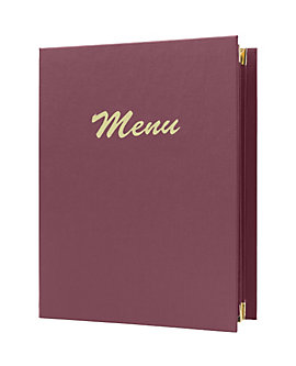 6 View Book Style Menu Case with Photo Corners