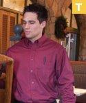 Mens Teflon Dress Shirt, Long Sleeve, Clearance