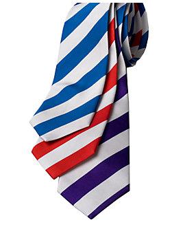 College Stripe Silk Neck Ties