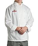 White Classic Long Sleeve Chef Coat