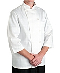 White Classic ¾ Sleeve Chef Coat