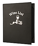 Double Pocket Imported Leather Wine List