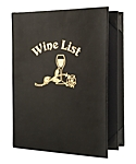 4 View Book Style Imported Leather Wine List