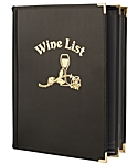 4 View Book Style Fine Cafe Wine List, 8½x11 (Letter)