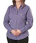 Womens Long Sleeve Cross Hatch Texture Shirt