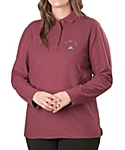 Womens Silk Touch Sport Shirt, Long Sleeve