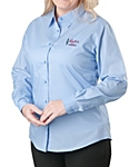 Womens Long Sleeve Lightweight Poplin Shirt