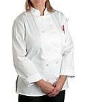 Womens White Classic Long Sleeve Chef Coat