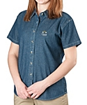 Womens Denim Shirt, Short Sleeve