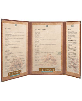 Double + Half Cafe Menu Cover