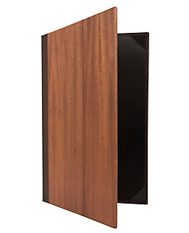 Double Pocket Wood Casebound Menu